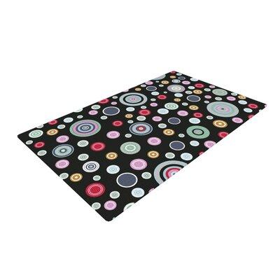 Suzanne Carter Circle Circle II Black Area Rug Rug Size: 4 x 6