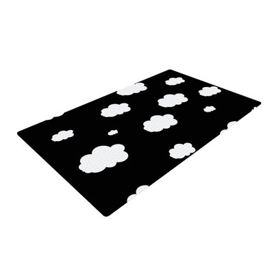 Suzanne Carter Clouds Black/White Area Rug Rug Size: 2 x 3