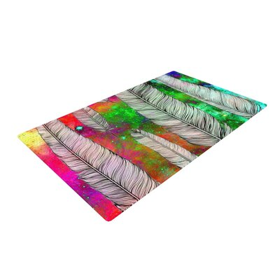 Suzanne Carter Feather Space Rainbow Area Rug Rug Size: 4 x 6
