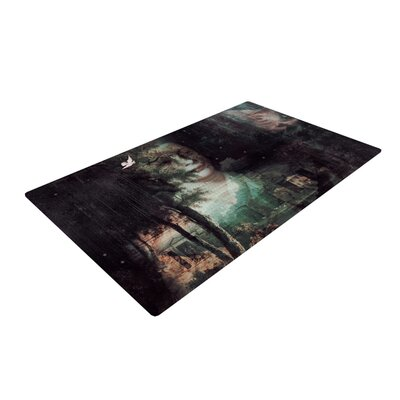 Suzanne Carter Lady Grace Dark Area Rug Rug Size: 4 x 6