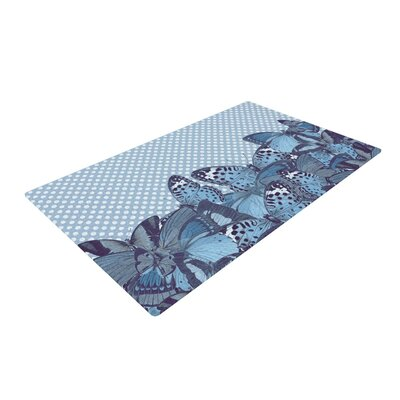 Suzanne Carter Butterfly Blues Aqua Area Rug Rug Size: 2 x 3