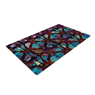 Suzanne Carter Pattern Abstract Purple/Blue Area Rug Rug Size: 2 x 3