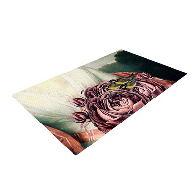 Suzanne Carter the Bouquet White/Pink Area Rug Rug Size: 2 x 3