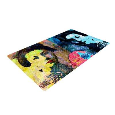 Suzanne Carter Kimono Girl Yellow/Blue Area Rug Rug Size: 4 x 6