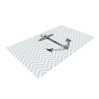 Suzanne Carter Anchor Black/Blue Area Rug Rug Size: 4 x 6