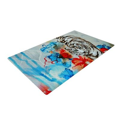 Sonal Nathwani Tiger Blue/White Area Rug