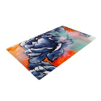 Sonal Nathwani Bloom Blue/Orange Area Rug