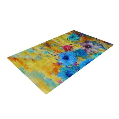 Sonal Nathwani Cosmic Love Garden Yellow/Blue Area Rug