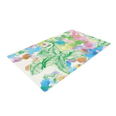 Sonal Nathwani Leaf Bouquet Green Area Rug