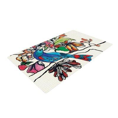 Sonal Nathwani Magic Garden Bird Rainbow Area Rug
