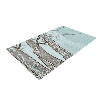 Sam Posnick Winter Trees Gray/Green Area Rug