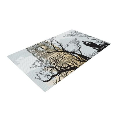 Sam Posnick Big Ben White/Black Area Rug