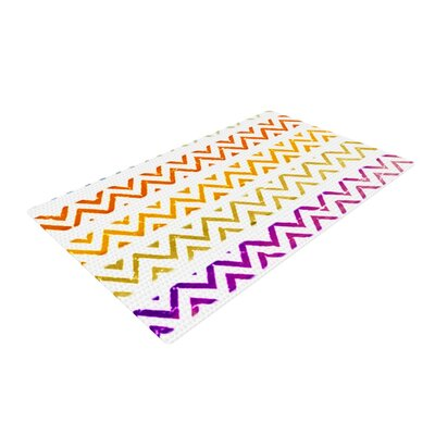 Sreetama Ray Chevron Add Warm Purple/Orange Area Rug Rug Size: 2 x 3