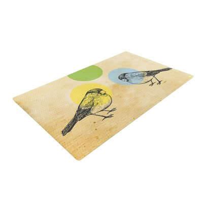 Sreetama Ray Paper Birds Green Area Rug Rug Size: 2 x 3