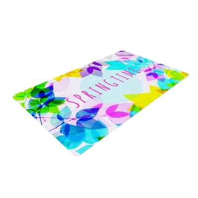 Sreetama Ray Seasons Springtime Leaves Rainbow Area Rug Rug Size: 2 x 3