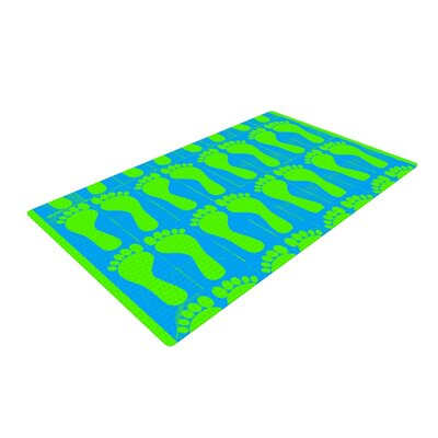 Sreetama Ray Footprints Blue/Green Area Rug Rug Size: 4 x 6