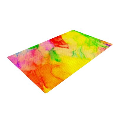 Sreetama Ray Chemical Lovestory Watercolor Yellow/Red Area Rug Rug Size: 4 x 6