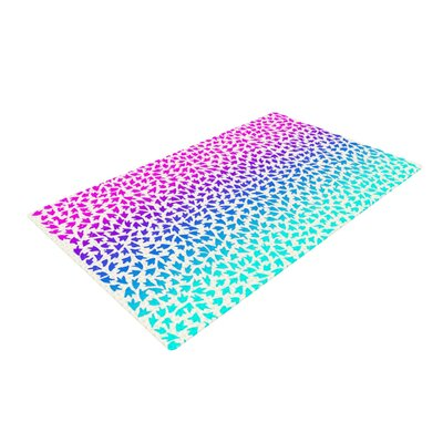 Sreetama Ray Arrows Blue/Pink Area Rug URBQ7472 41170250