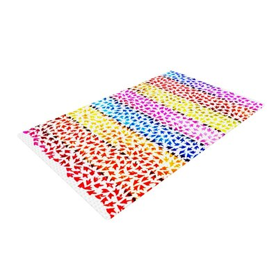 Sreetama Ray Arrows Rainbow Area Rug Rug Size: 2 x 3
