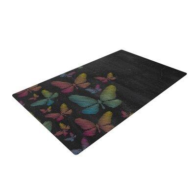 Snap Studio Butterflies Chalk Pastel Area Rug Rug Size: 2 x 3