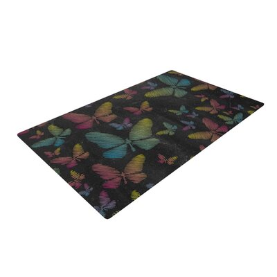 Snap Studio Butterflies II Chalk Pastel Area Rug Rug Size: 2 x 3
