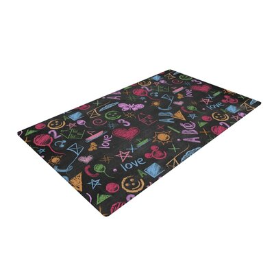 Snap Studio Kindergarden Crazy Black/Rainbow Area Rug Rug Size: 4 x 6