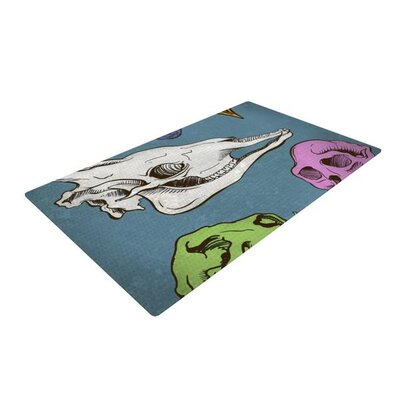 Sophy Tuttle Skulls Blue/Beige Area Rug