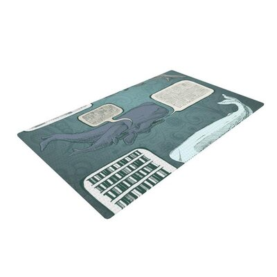 Sophy Tuttle Whale Talk Green/Gray Area Rug