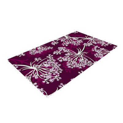 Suzie Tremel Squiggly Floral Pink/White Area Rug Rug Size: 2 x 3