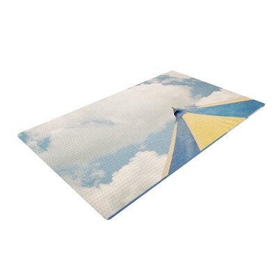 Susannah Tucker Carnival Tent Sky Clouds Blue/White Area Rug Rug Size: 2 x 3