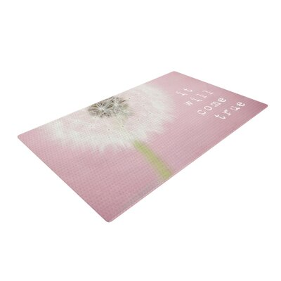 Susannah Tucker It Will Come True Flower Pink Area Rug Rug Size: 4 x 6