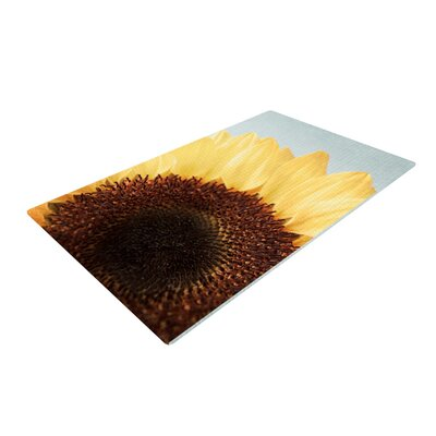 Susannah Tucker Sunshine Sunflower Yellow Area Rug Rug Size: 4 x 6