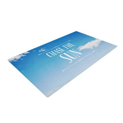 Susannah Tucker Chase the Sun Beach Sky Blue/White Area Rug Rug Size: 2 x 3