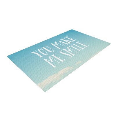 Susannah Tucker You Make Me Smile Beach Sky Blue Area Rug Rug Size: 2 x 3