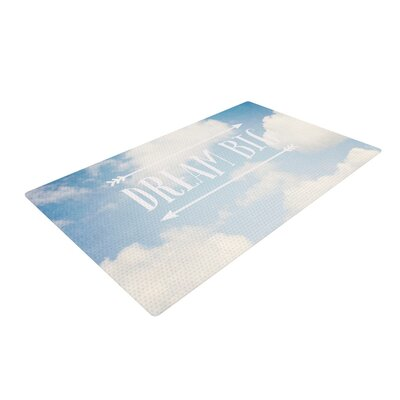 Susannah Tucker Dream Big Clouds Blue/White Area Rug Rug Size: 2 x 3