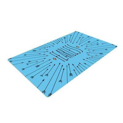 Skye Zambrana Fearless Blue Area Rug