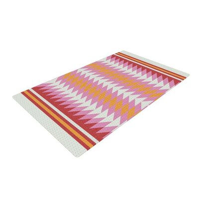 Skye Zambrana Bomb Pop Red/Orange Area Rug