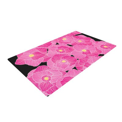 Skye Zambrana in Bloom Floral Pink Area Rug Rug Size: 4 x 6
