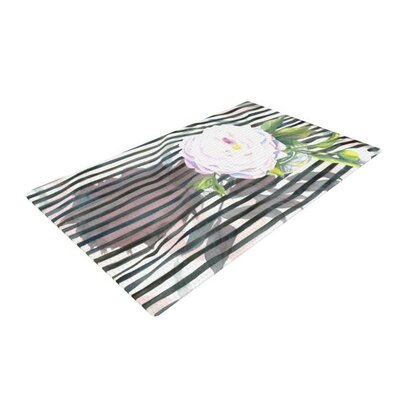 S. Seema Z Peony N White/Black Area Rug