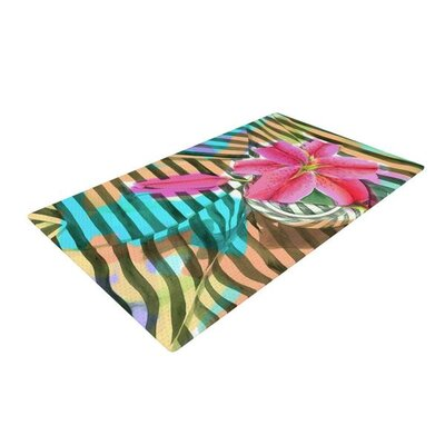 S. Seema Z Lilly N Stripes Pink/Orange Area Rug