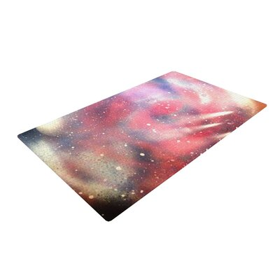 Infinite Spray Art Cascade Swirl Red/Pink Area Rug Rug Size: 4 x 6