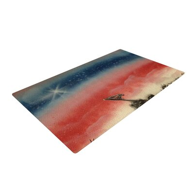 Infinite Spray Art Veterans Day Red/Blue Area Rug Rug Size: 4 x 6