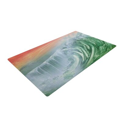 Infinite Spray Art Cant Get Enough Pink/Green Area Rug Rug Size: 4 x 6