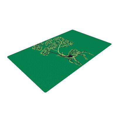 Tobe Fonseca Nectar Deer Green Area Rug Rug Size: 4 x 6
