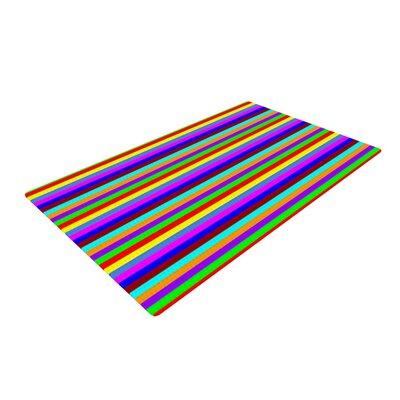 Trebam Bombon Stripes Rainbow Area Rug Rug Size: 4 x 6