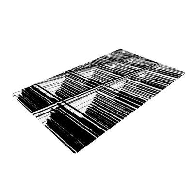 Trebam Celik Lines Black Area Rug Rug Size: 4 x 6