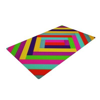 Trebam Nakriv Abstract Rainbow Area Rug Rug Size: 4 x 6