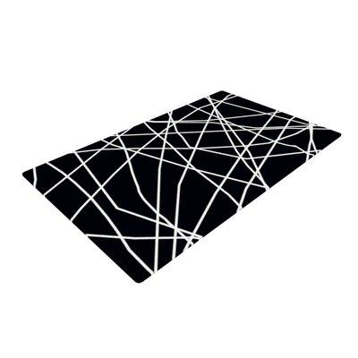 Trebam Paucina Crazy Lines Black Area Rug Rug Size: 2 x 3