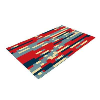 Trebam Nada Red/Blue Area Rug Rug Size: 4 x 6