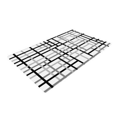Trebam Veza V Lines Gray Area Rug Rug Size: 2 x 3